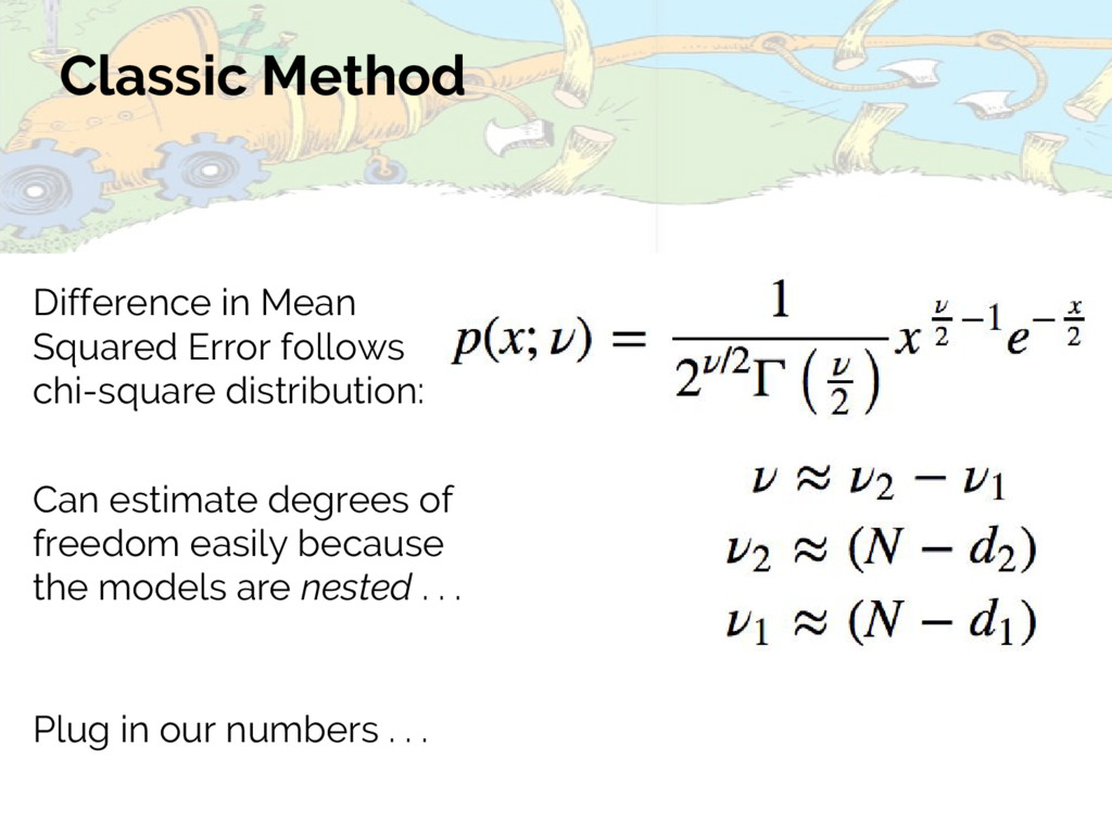 Classic Method Can estimate degrees of freedom ...