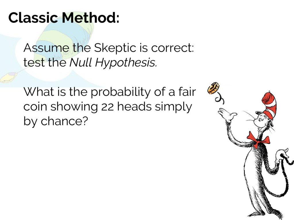 Classic Method: Assume the Skeptic is correct: ...