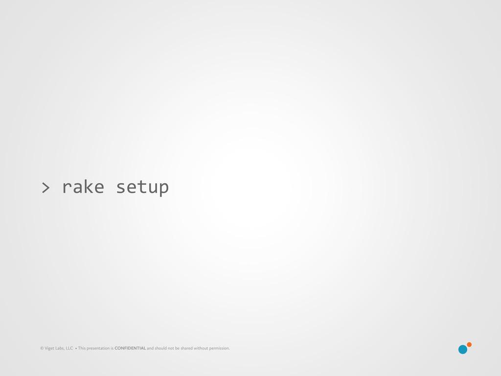 > rake setup © Viget Labs, LLC • This pre...