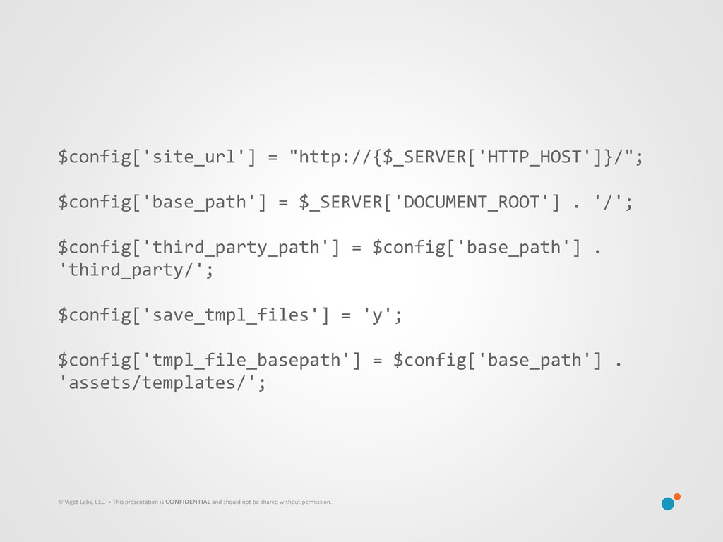 """$config['site_url'] = """"http://{$_SERVER['..."""