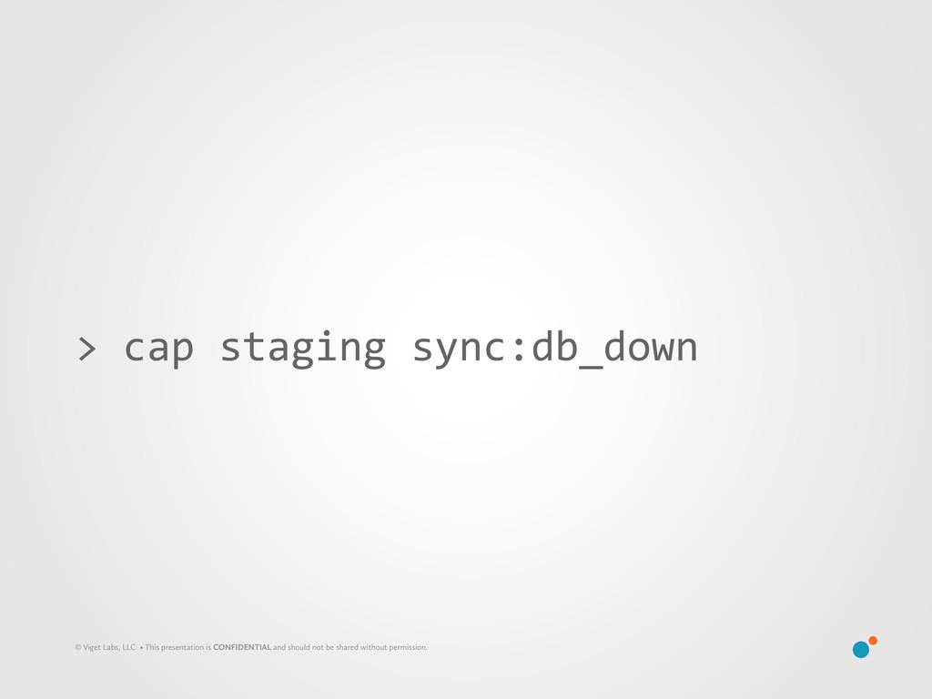 > cap staging sync:db_down © Viget Lab...