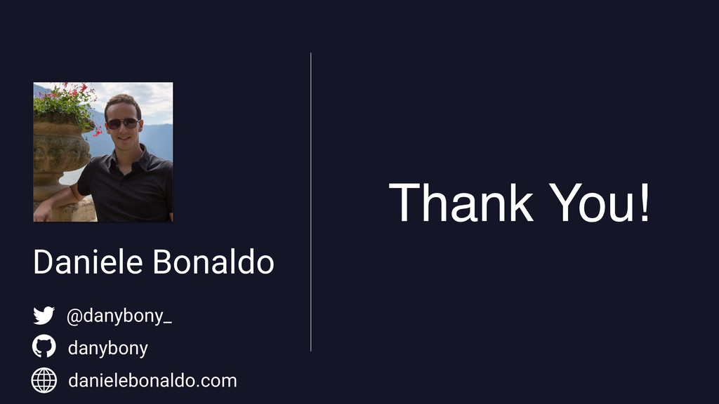 Daniele Bonaldo Thank You! @danybony_ danybony ...