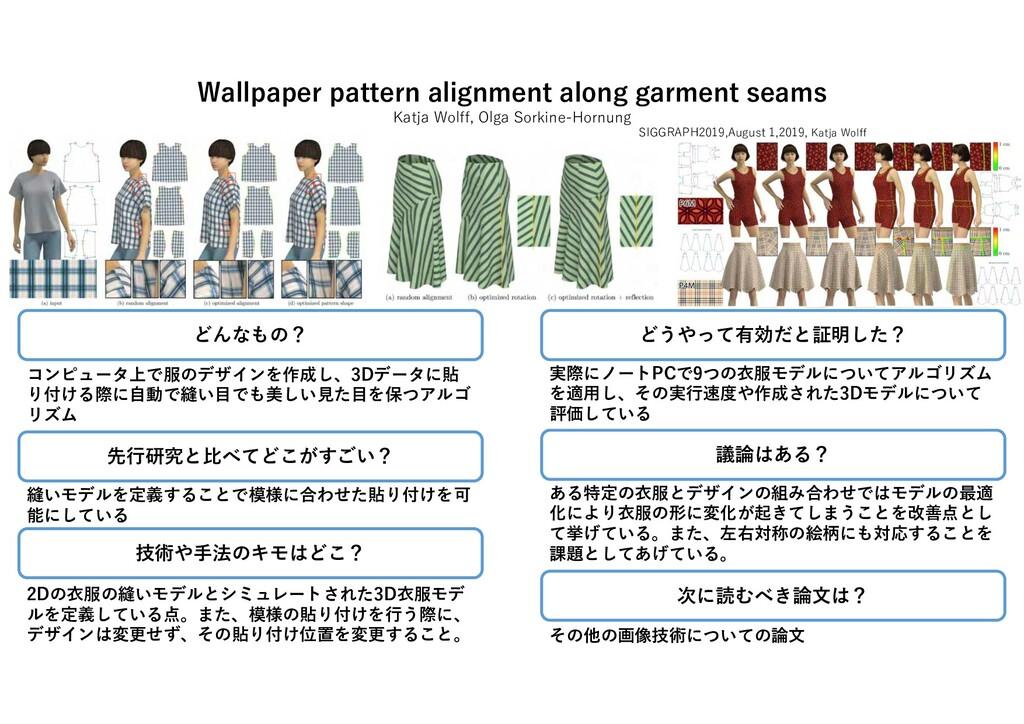 Wallpaper pattern alignment along garment seams...