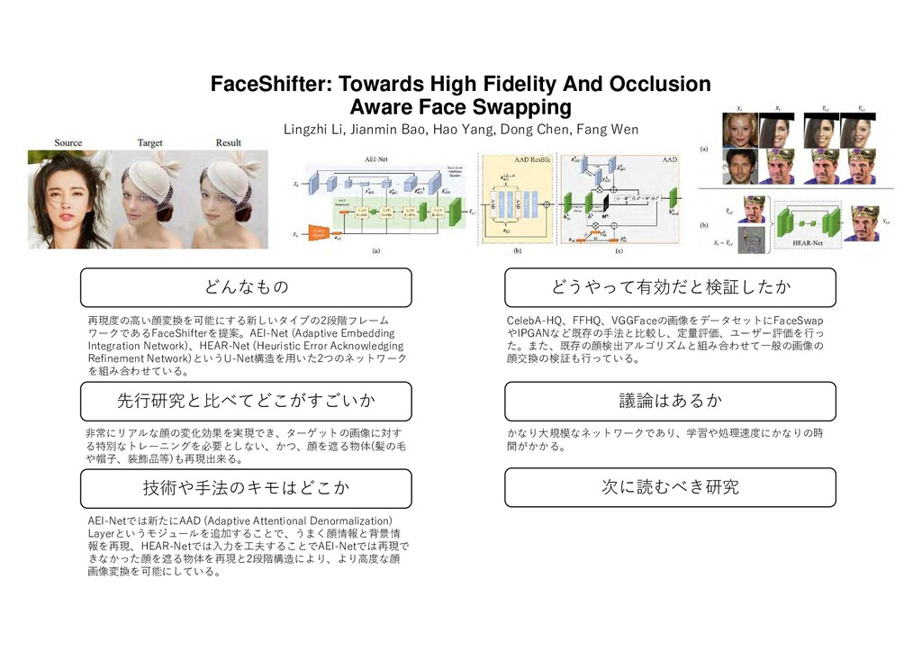 FaceShifter: Towards High Fidelity And Occlusio...