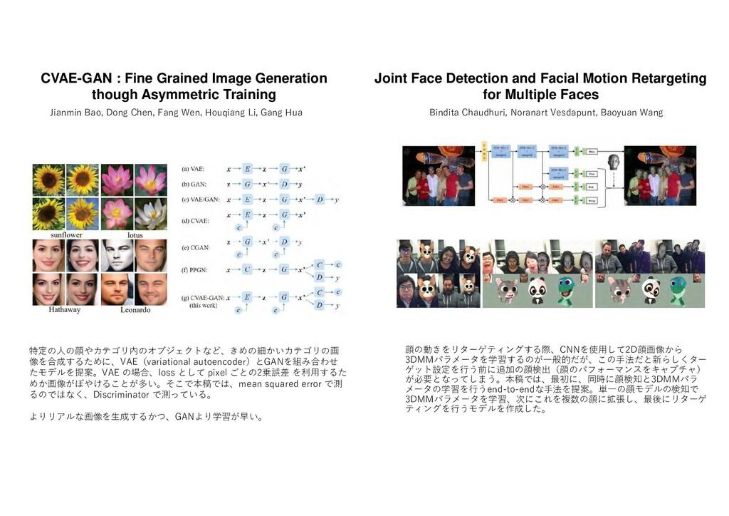 顔 動 ターゲ ングす 際 CNN 使用し 2D顔画像 3DMMパ ータ 学習す 一般的 こ ...
