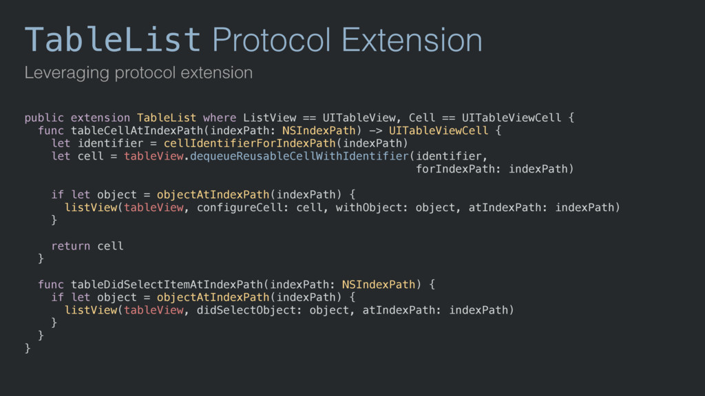 TableList Protocol Extension Leveraging protoco...