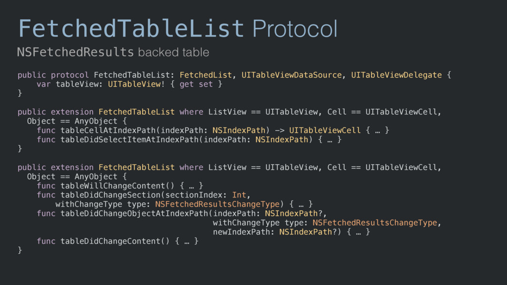 FetchedTableList Protocol NSFetchedResults back...