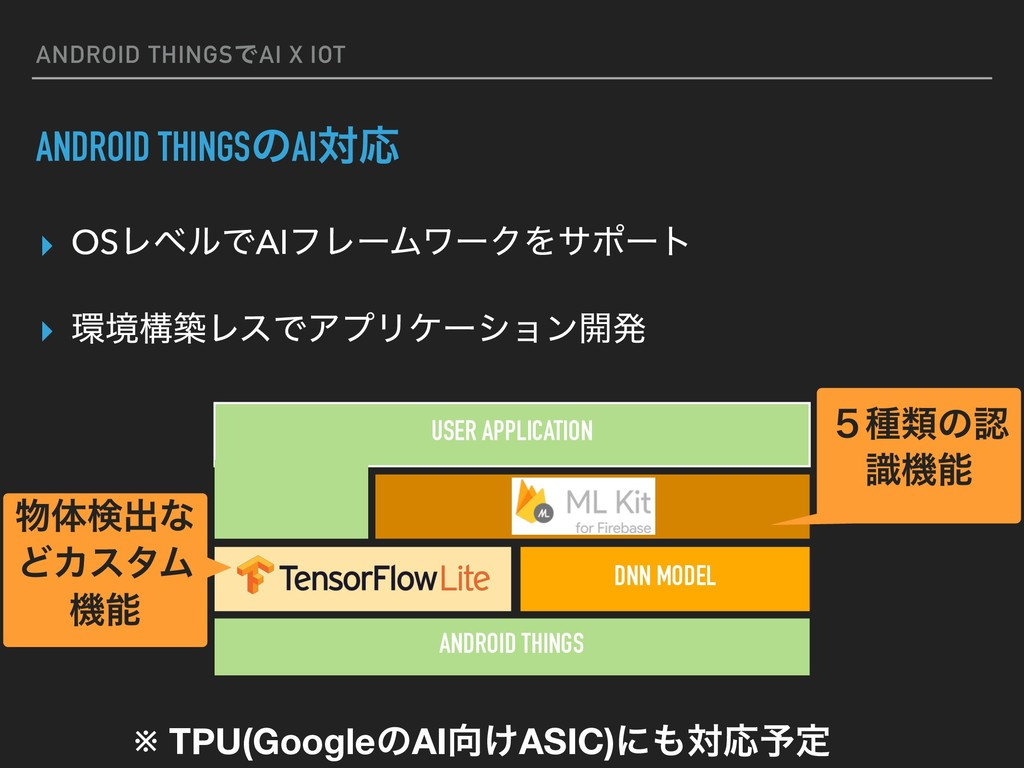 ANDROID THINGSͰAI X IOT ANDROID THINGSͷAIରԠ ▸ O...