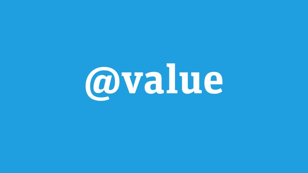 @value