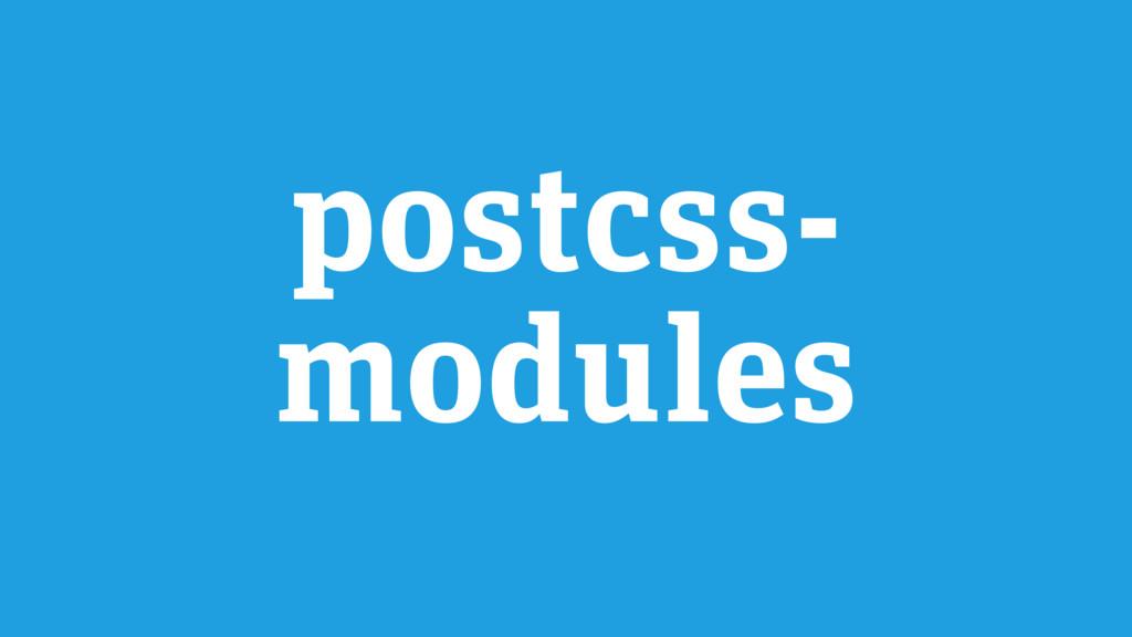 postcss- modules