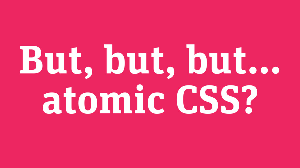 But, but, but…