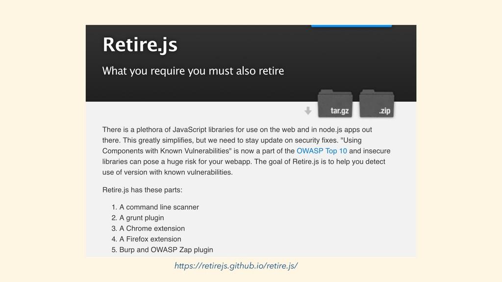 https://retirejs.github.io/retire.js/