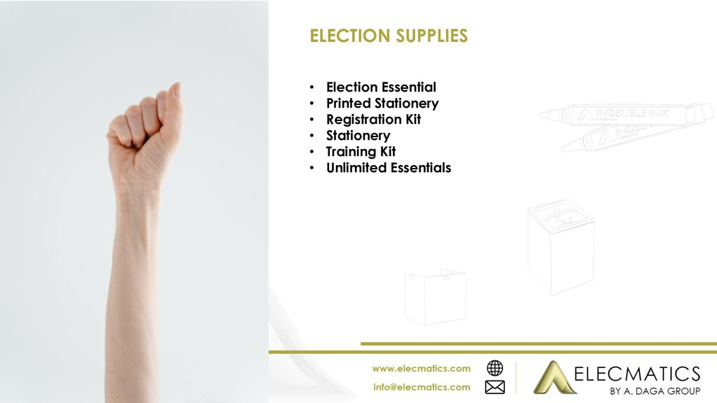 • Election Essential • Printed Stationery • Reg...