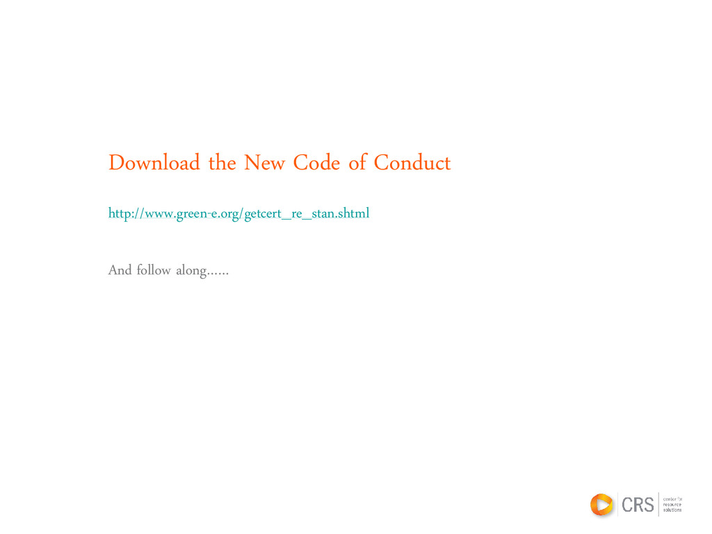 Download the New Code of Conduct http://www.gre...