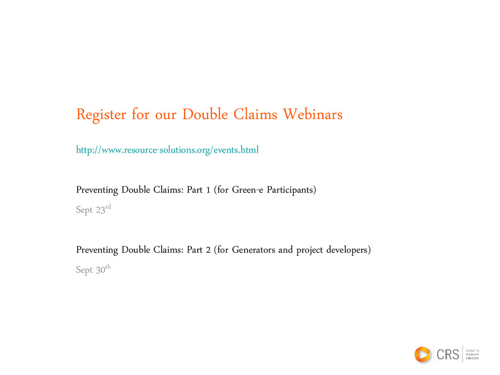 Register for our Double Claims Webinars http://...