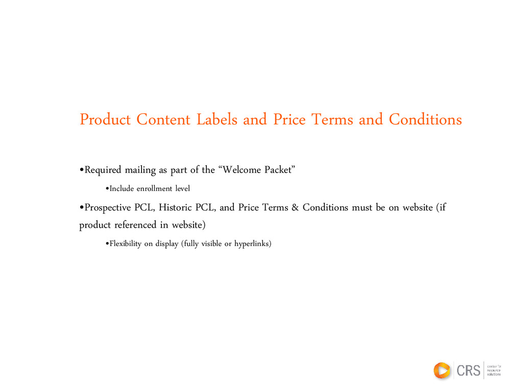 Product Content Labels and Price Terms and Cond...