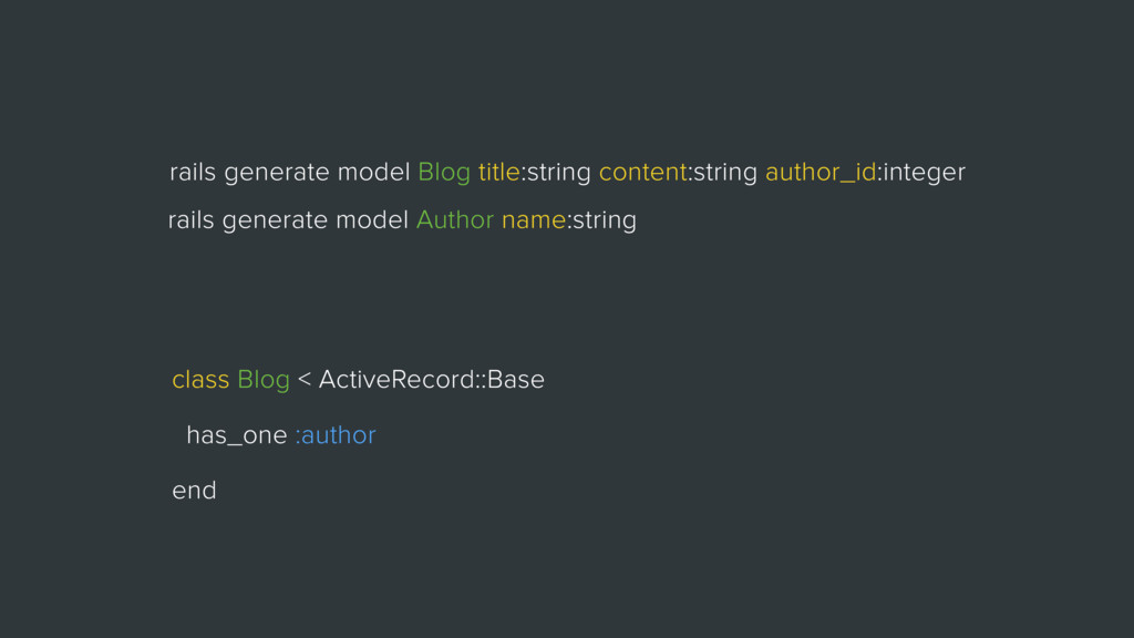 rails generate model Blog title:string content:...