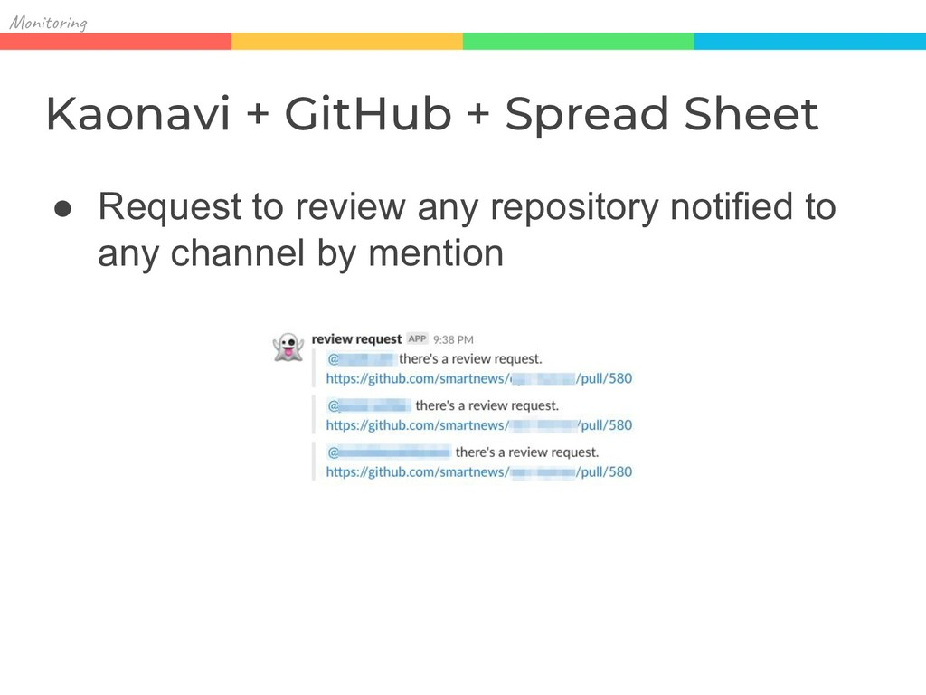 Mon in Kaonavi + GitHub + Spread Sheet ● Reques...