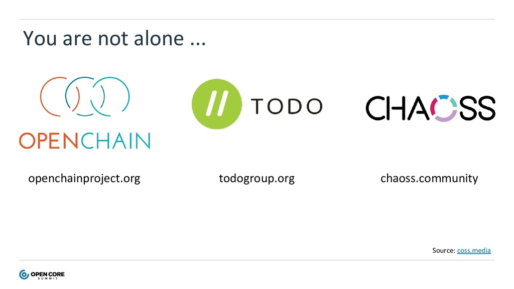 You are not alone ... openchainproject.org todo...