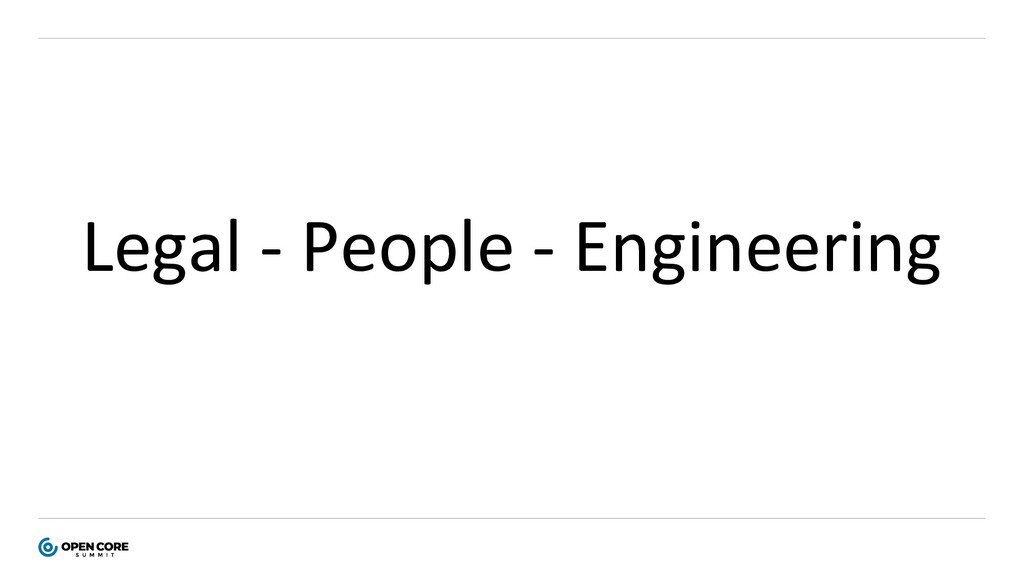 Legal - People - Engineering