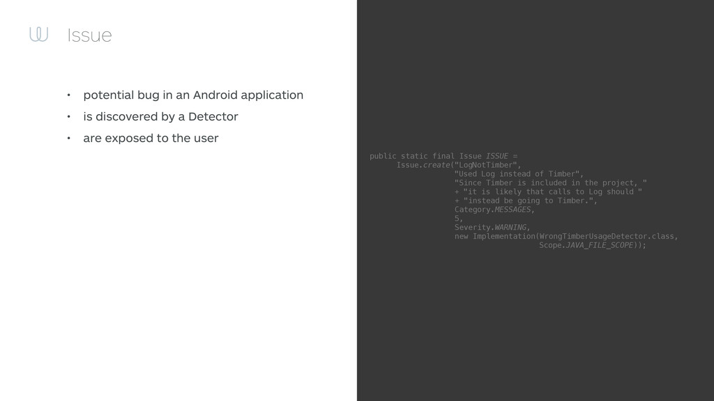 Issue • potential bug in an Android application...
