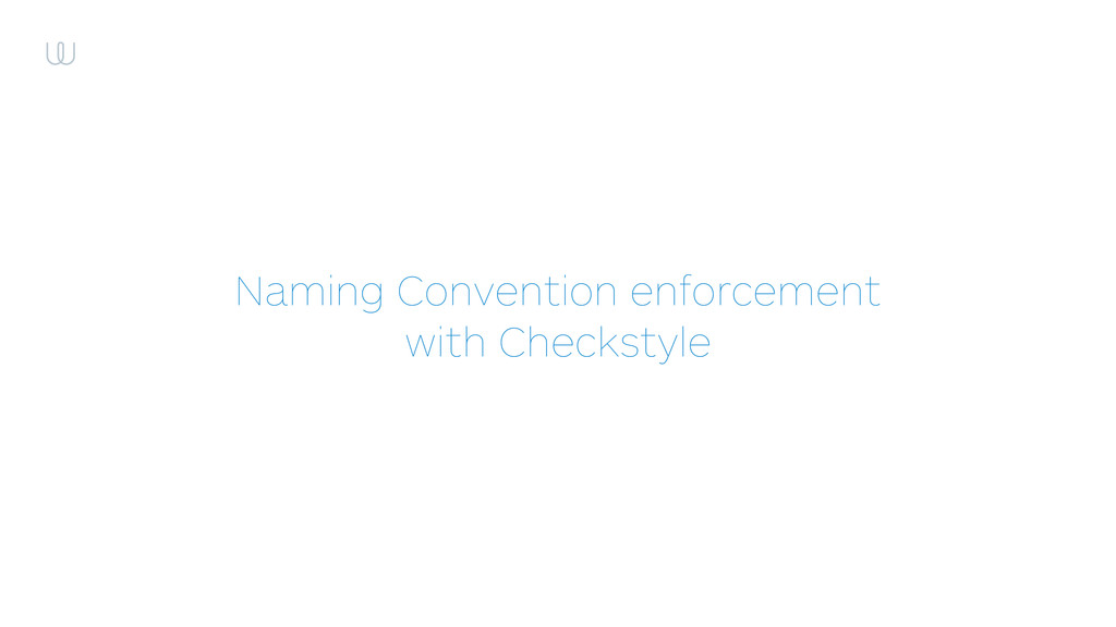 Naming Convention enforcement with Checkstyle
