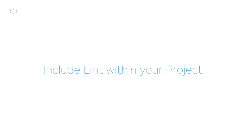 Include Lint within your Project