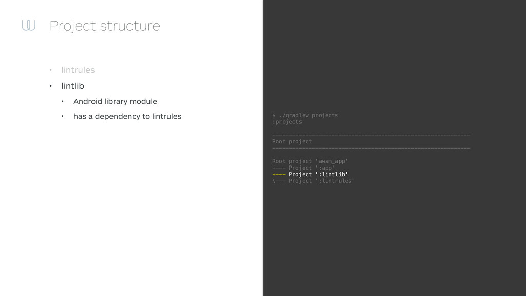 Project structure • lintrules • lintlib • Andro...