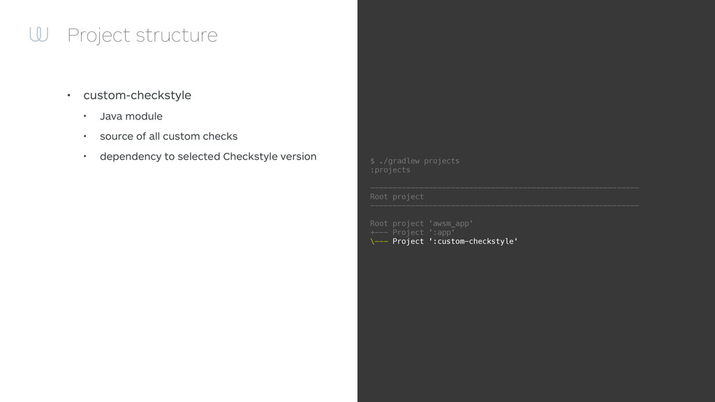 Project structure • custom-checkstyle • Java mo...