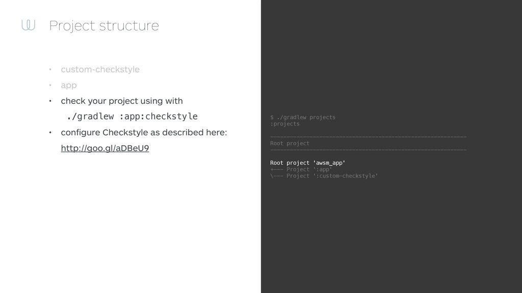 Project structure • custom-checkstyle • app • c...