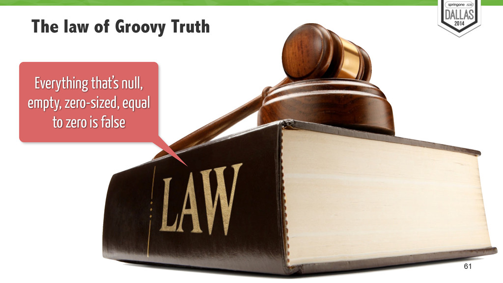 The law of Groovy Truth 61 Everything that's nu...