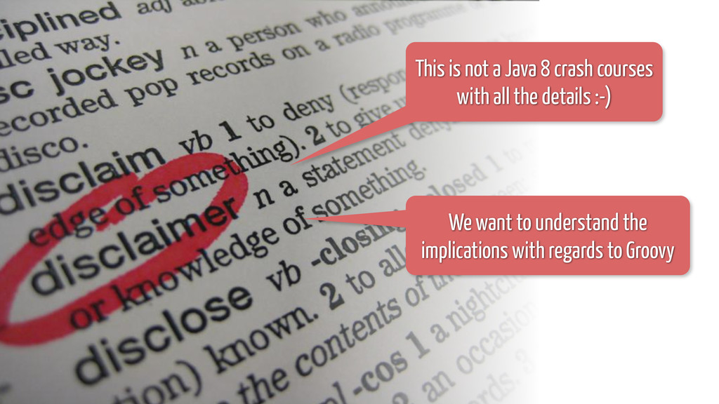 This is not a Java 8 crash courses with all the...