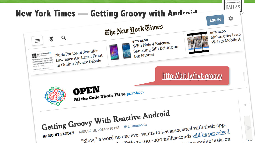 New York Times — Getting Groovy with Android 79...