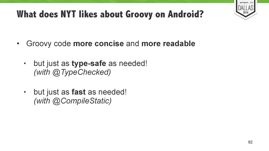 What does NYT likes about Groovy on Android? ! ...