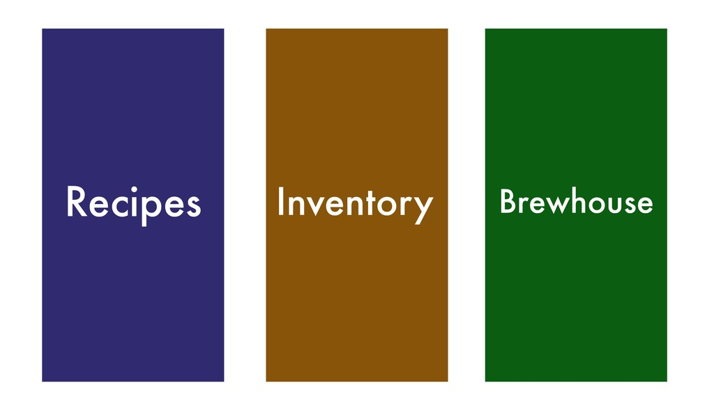 Inventory Recipes Brewhouse