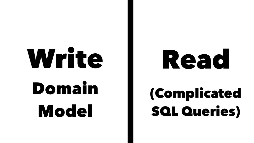 Write Domain Model Read (Complicated SQL Querie...