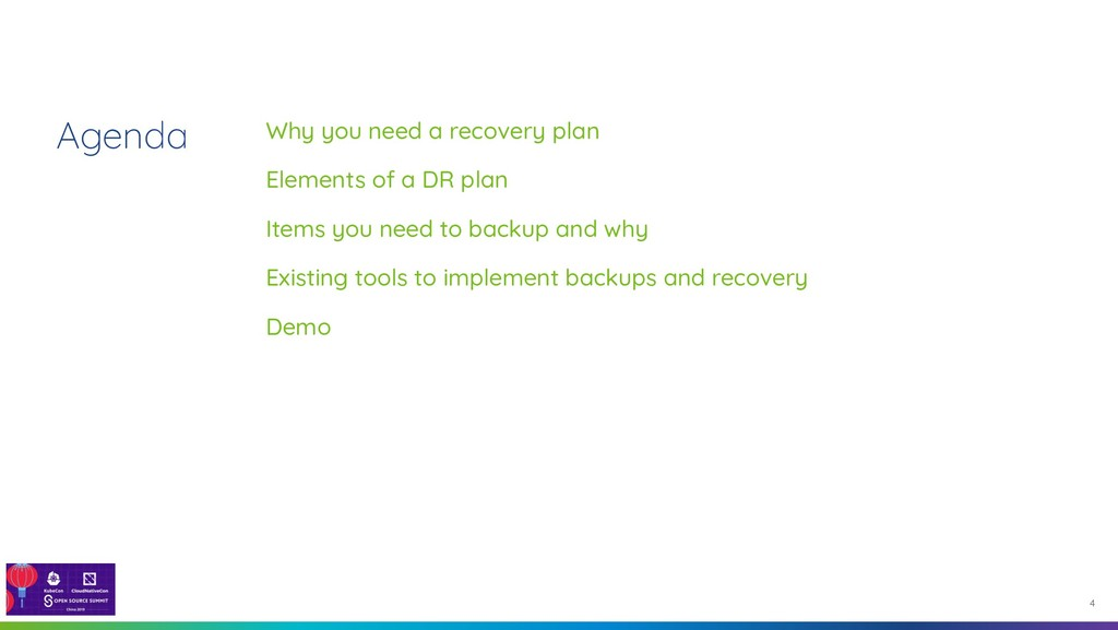 Agenda 4 Why you need a recovery plan Elements ...