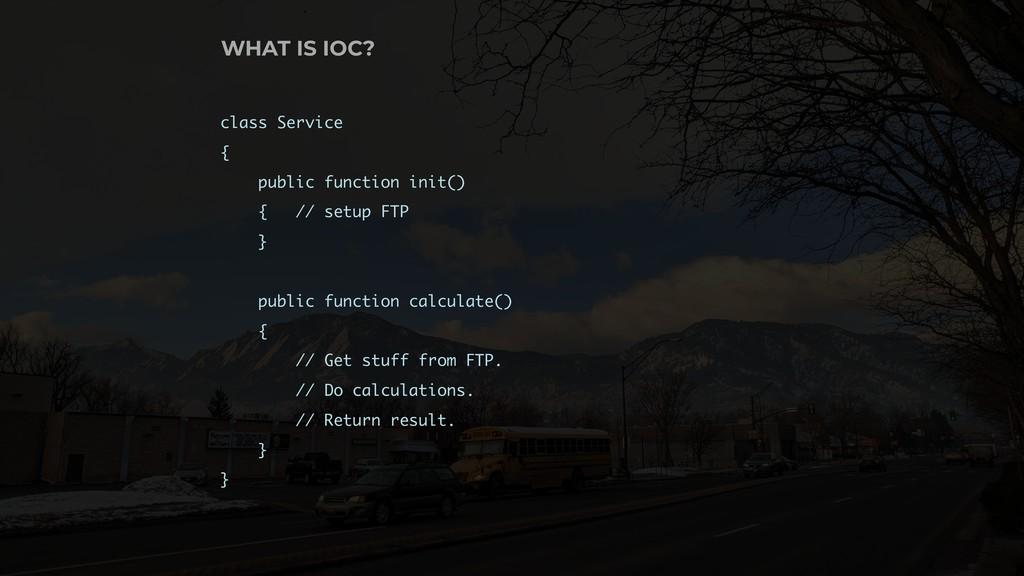 class Service { public function init() { // set...