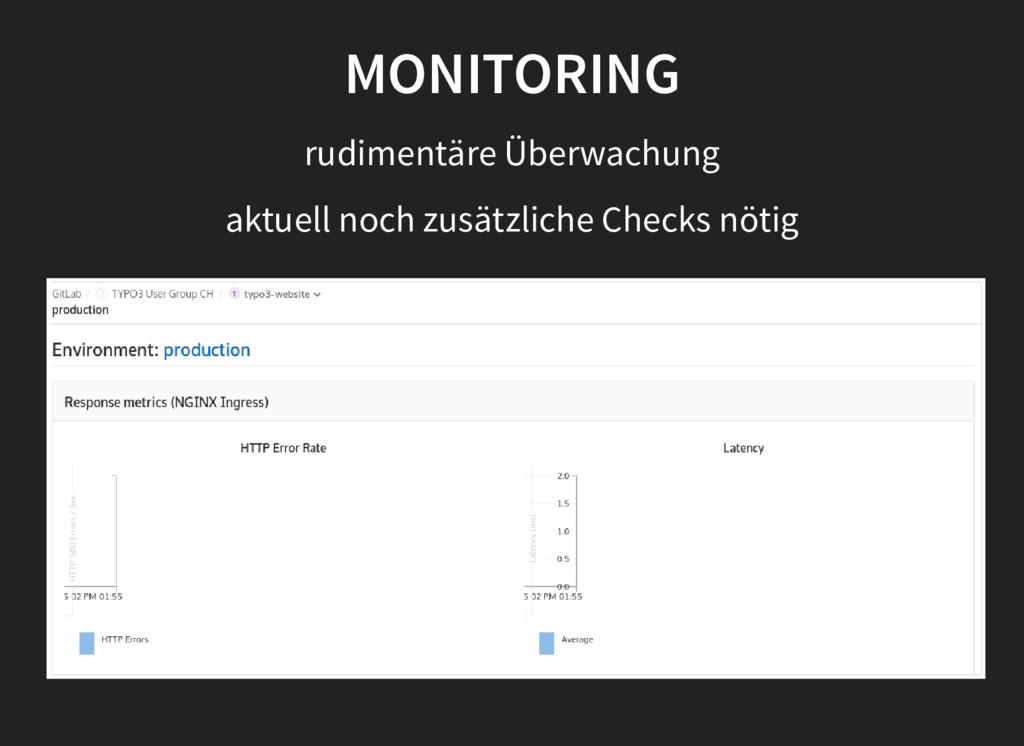MONITORING rudimentäre Überwachung aktuell noch...