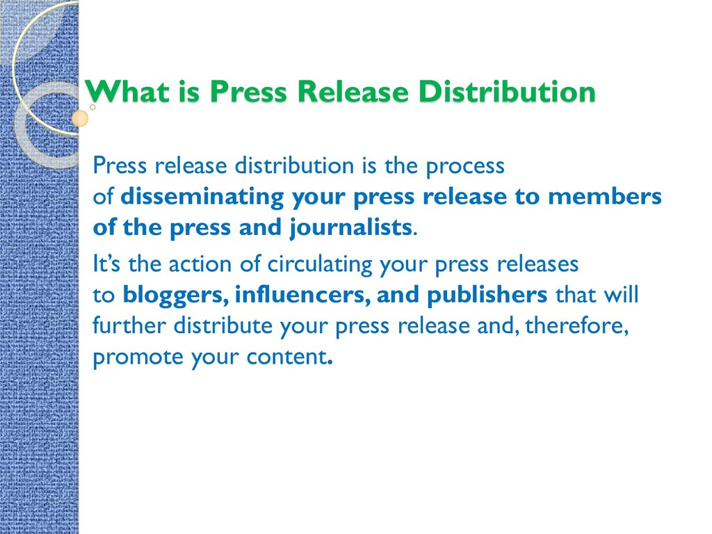 What is Press Release Distribution Press releas...