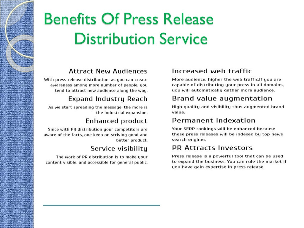 Benefits Of Press Release Distribution Service
