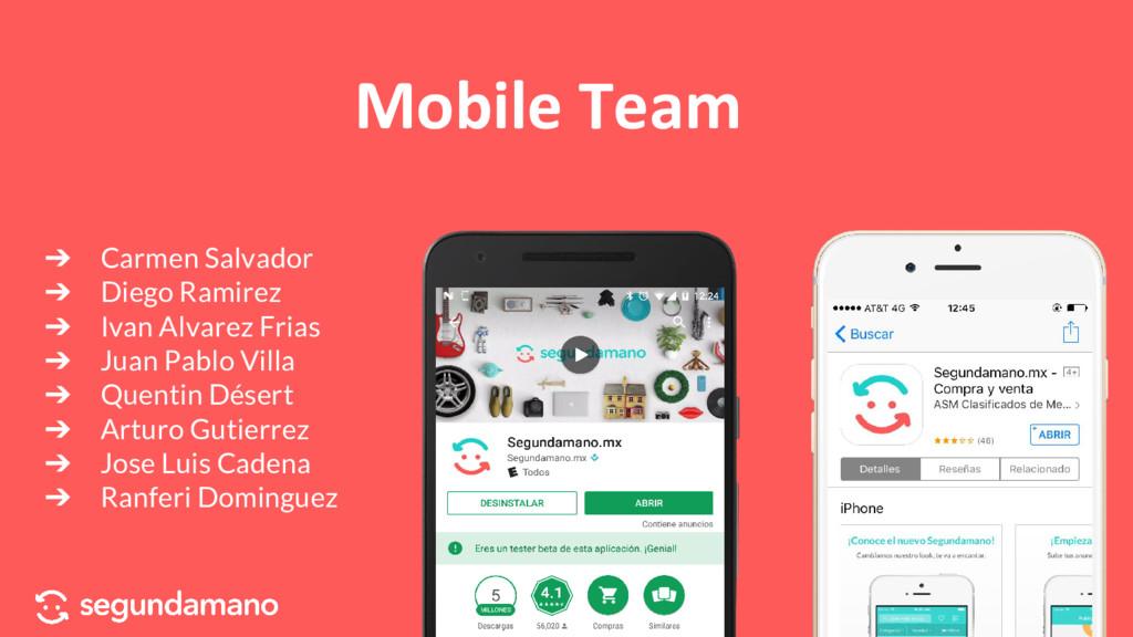 Mobile Team ➔ Carmen Salvador ➔ Diego Ramirez ➔...