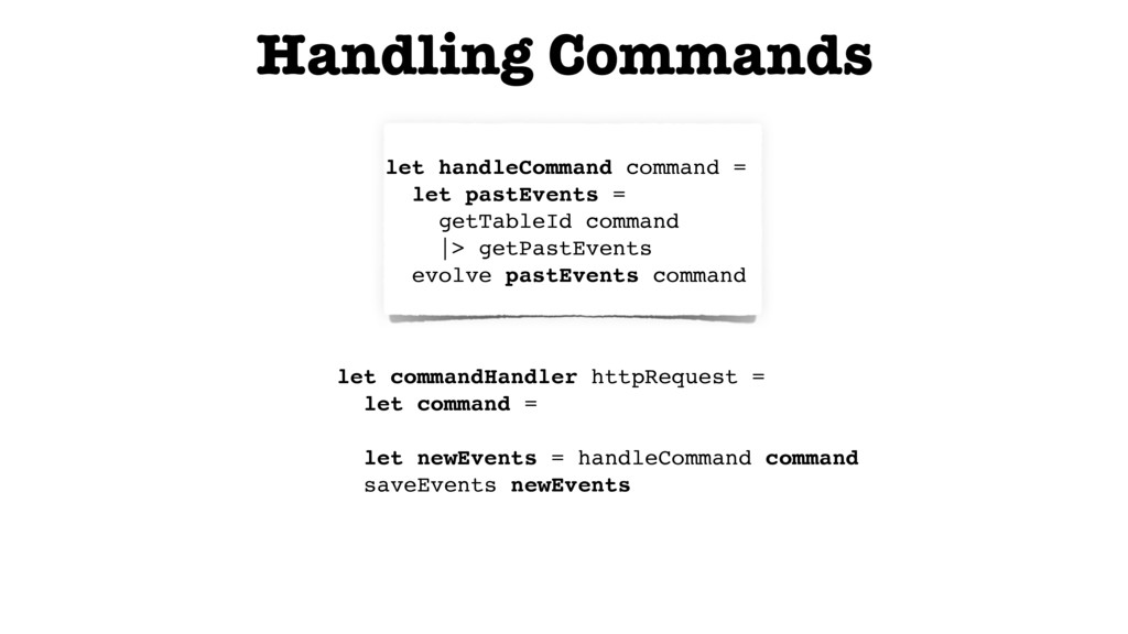 // Command -> Event list let handleCommand comm...