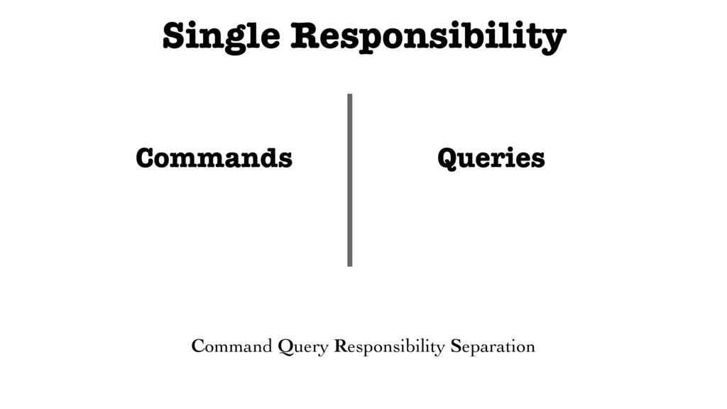 Single Responsibility Commands Queries Command ...