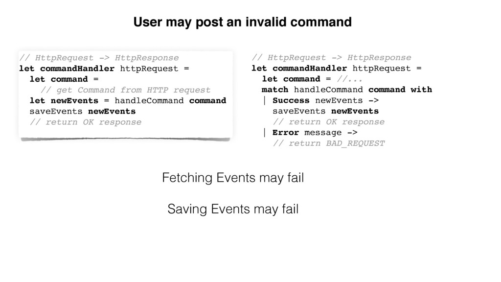User may post an invalid command // HttpRequest...