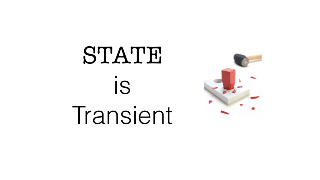 STATE is Transient