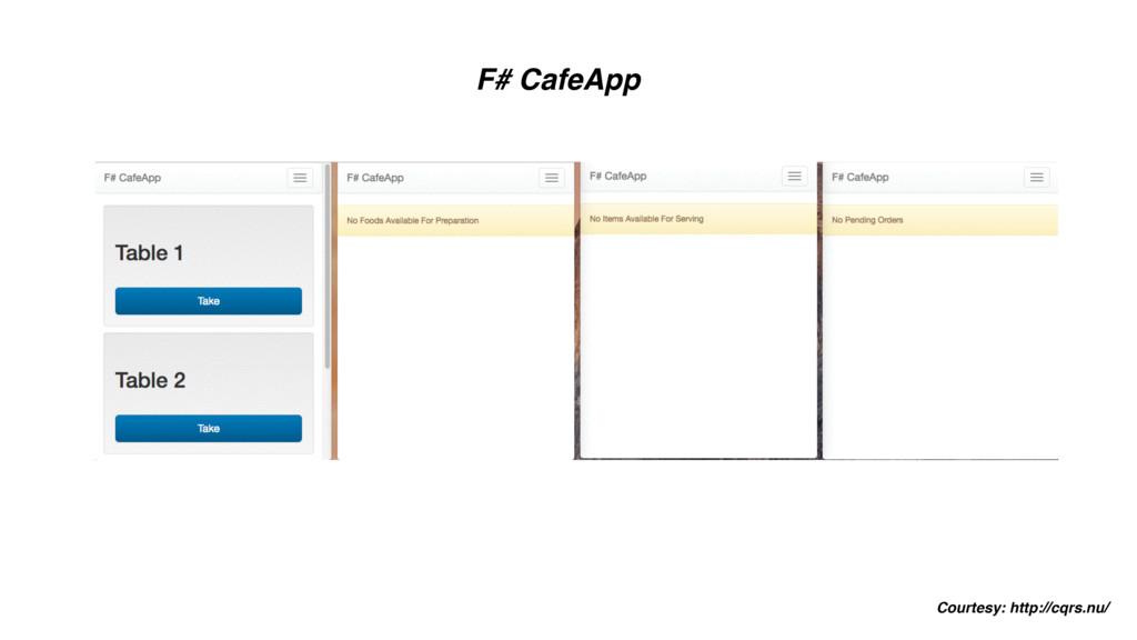 F# CafeApp Courtesy: http://cqrs.nu/