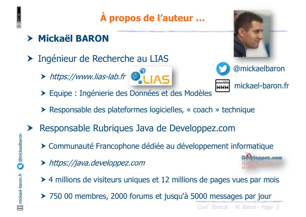 Conf. Tomcat - M. Baron - Page mickael-baron.fr...