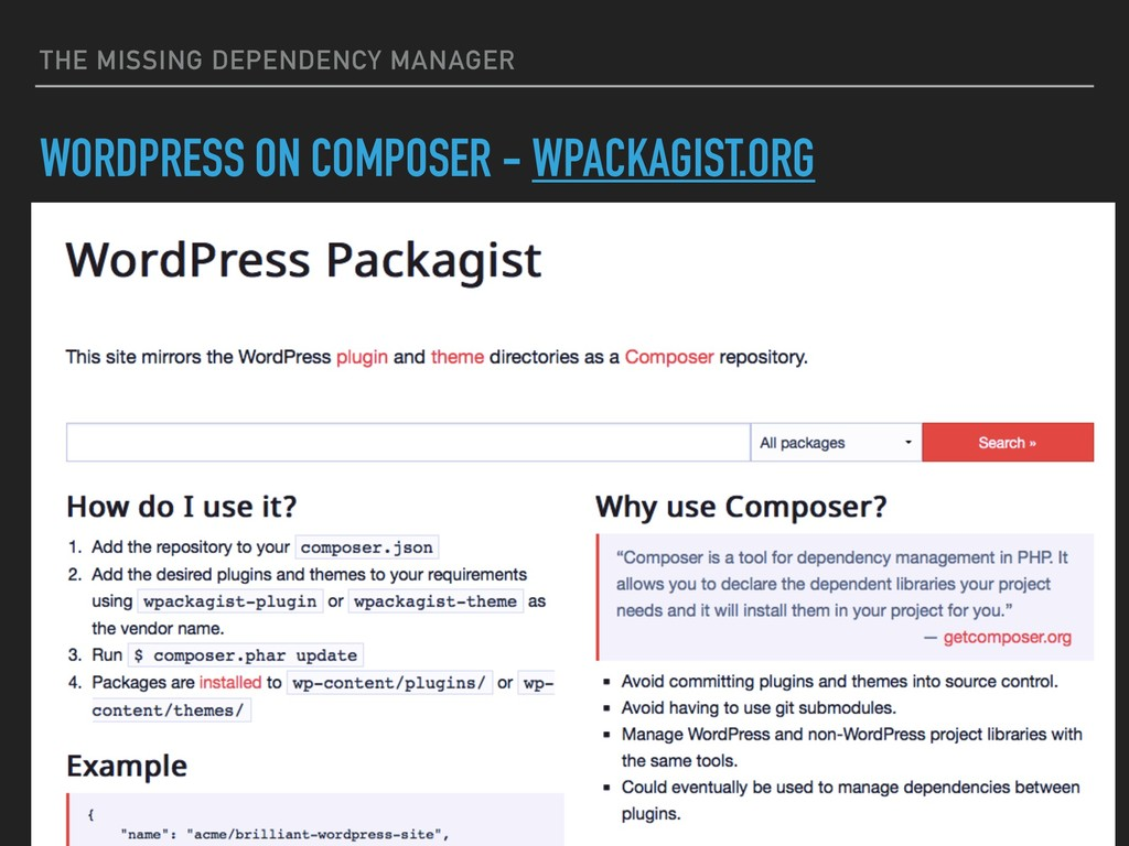 THE MISSING DEPENDENCY MANAGER WORDPRESS ON COM...