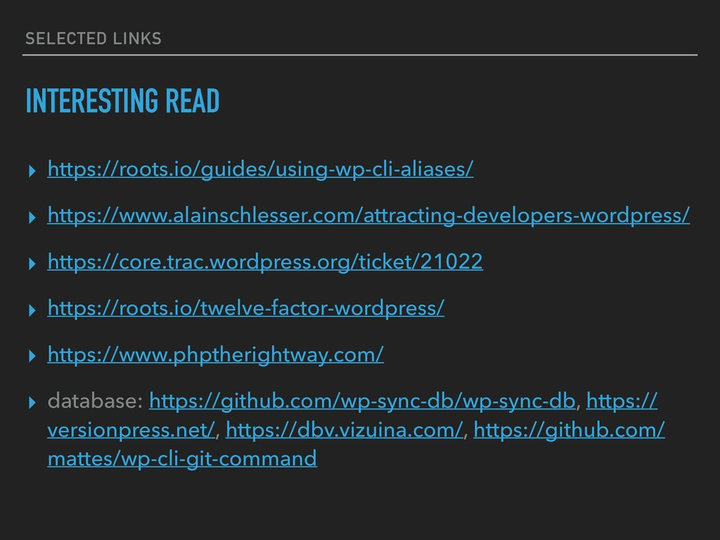 SELECTED LINKS INTERESTING READ ▸ https://roots...